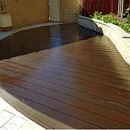 Sand, stain and varnish deck.