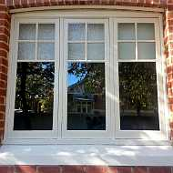 wooden window frame refurbish and paint