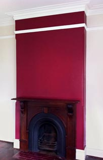 Interior feature wall with designer colour